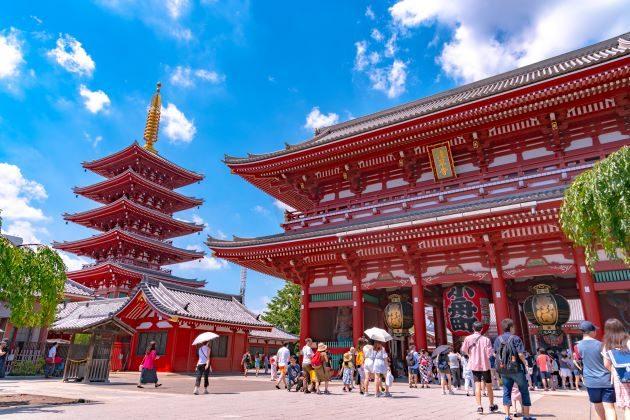 Asakusa Temple Complex in japan