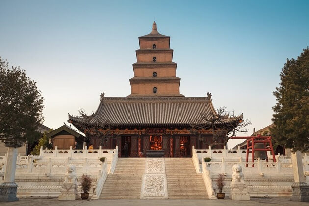 Big Wild Goose Pagoda - china tour with family