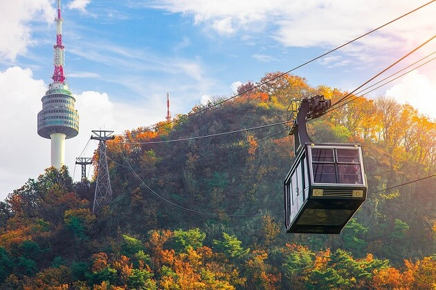 Cable Car Mount Namsan - things to do in korea solo