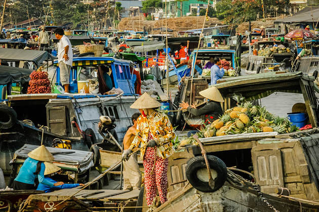 Cai Be floating market - indochina itinerary 3 weeks
