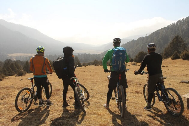 Chozom Bridge - biking tour in bhutan
