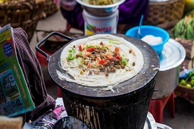 Dosas - best street food in myanmar