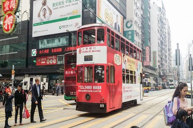 Double-Decker Tram Ride - best hong kong tours