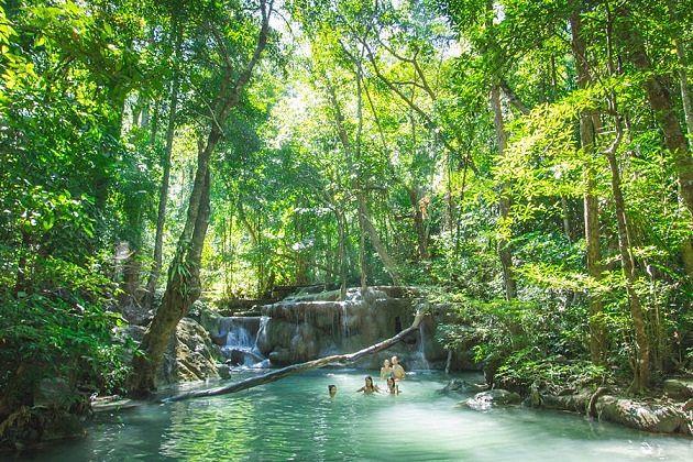 Erawan National Park - family tour in thailand