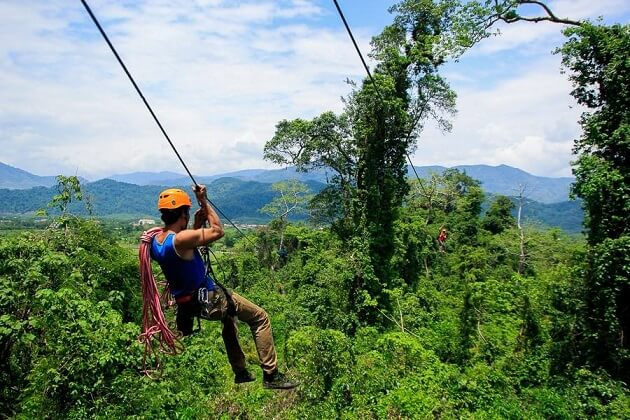 Going Zipline - laos tours