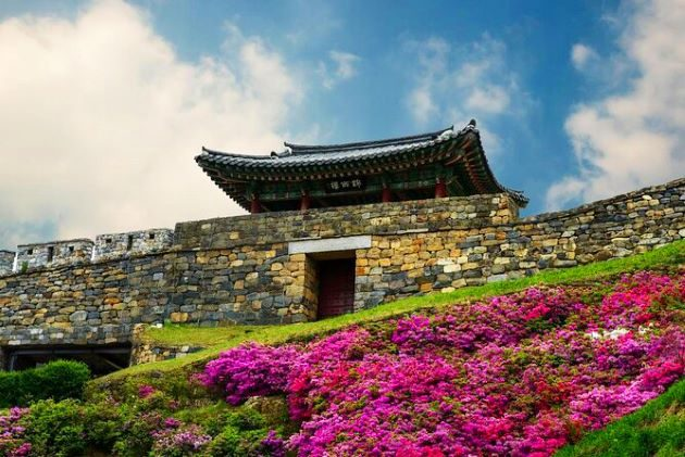 Gongsanseong Fortress in south korea