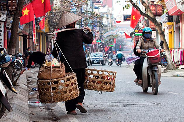 Hanoi Old Quarter - vietnam cambodia laos itinerary