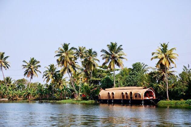 Kerala's famous backwaters