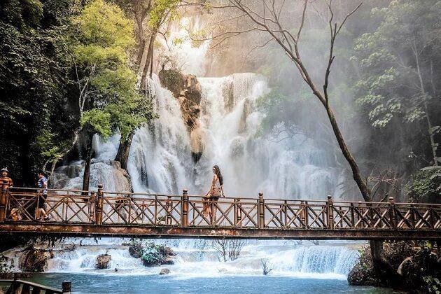 Kuang Si Waterfalls - laos cycling holidays
