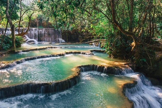 Kuang Si Waterfalls - southeast asia 2 weeks