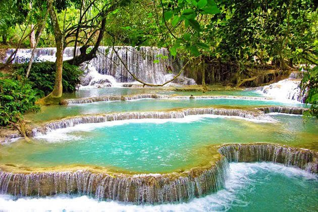 Kuang Si waterfall - 3 week indochina itinerary