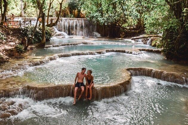 KuangSi waterfall - laos classic vacation