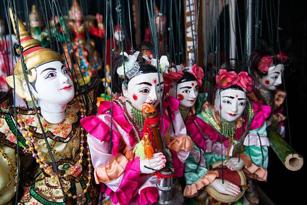 Marionettes - souvenir of myanmar