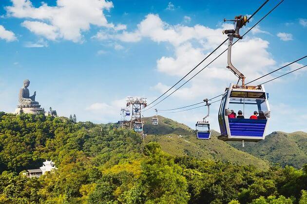 Ngong Ping Cable car - hong kong trip