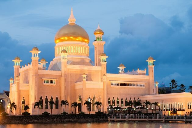 Omar Ali Saifuddien Mosque - Southeast Asia vacation