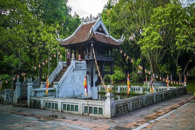 One Pillar Pagoda - adventure holiday southeast asia