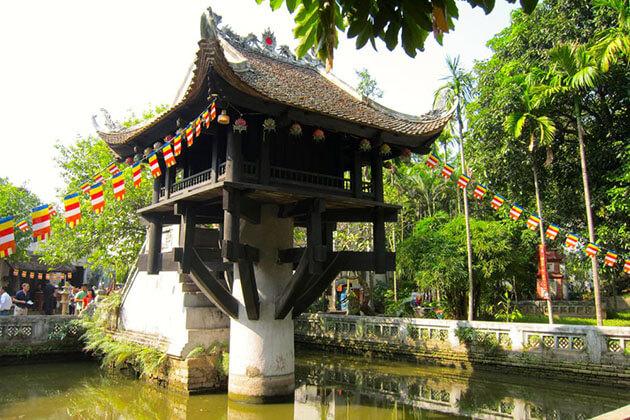 One Pillar Pagoda - vietnam cambodia thailand tour package