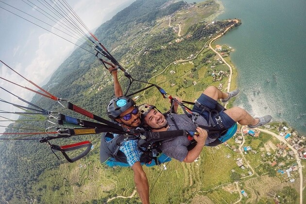 Paragliding in Pokhara - south asia vacation packages