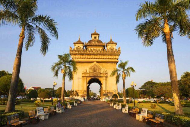 Patuxay monument in laos