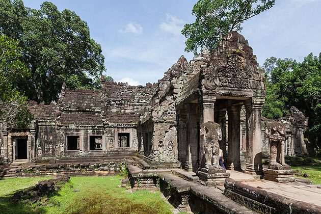 Preah Khan temple - vietnam cambodia laos myanmar itinerary