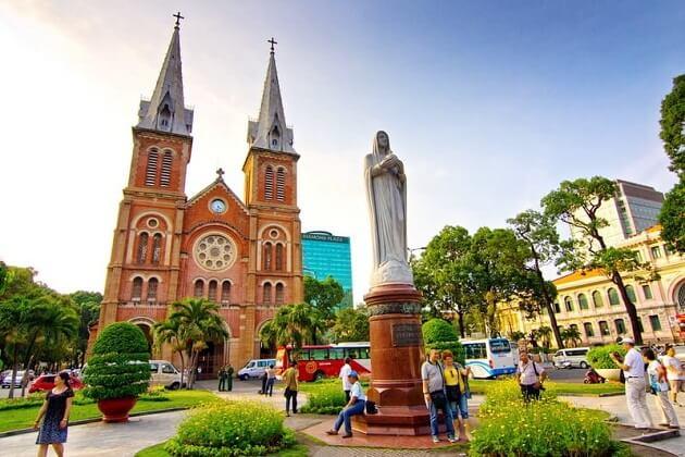 Saigon's Neo-Romanesque Notre Dame Cathedral