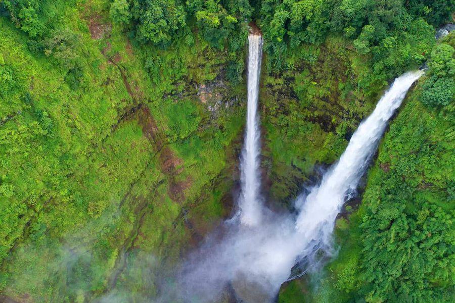 Tad Fan Waterfall in laos