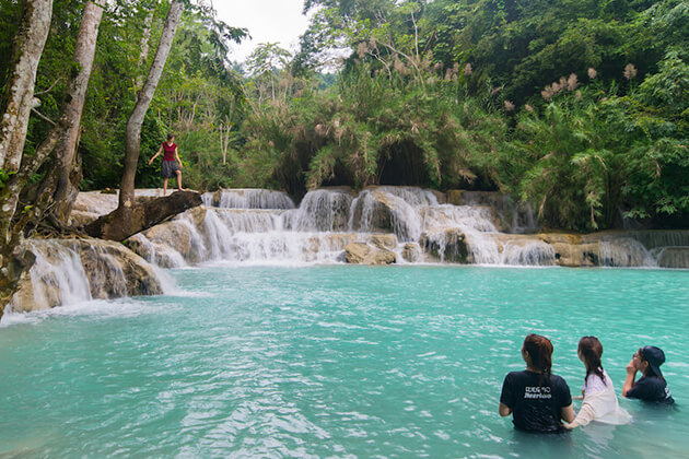Tad Sae waterfalls - what to do at laos