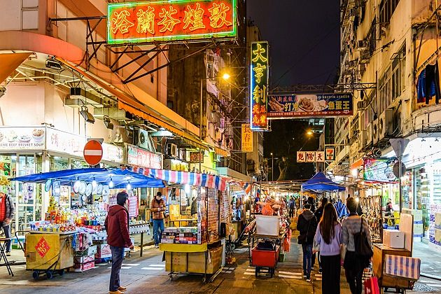 Temple Street Night Market - hong kong vacation packages
