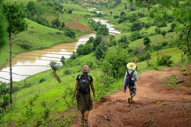 Trekking - myanmar things to do