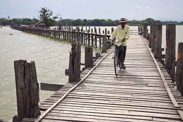 Ubein Bridge - myanmar tour packages