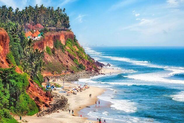 Varkala beach - india cycling tour 14 days