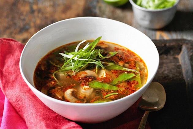 Vegetarian Tom Yum Soup - laos food