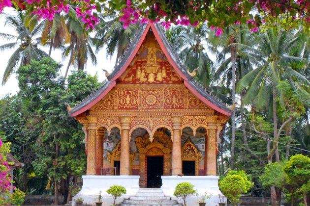 Wat Aham Temple in luang prabang laos