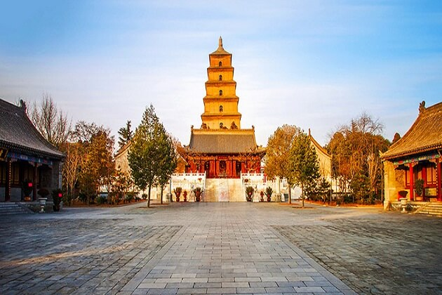 Wild Goose Pagoda - vacation to east asia