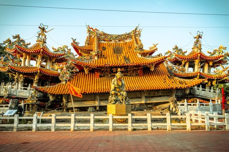 Wuchang Temple ruins - best taiwan adventure tour