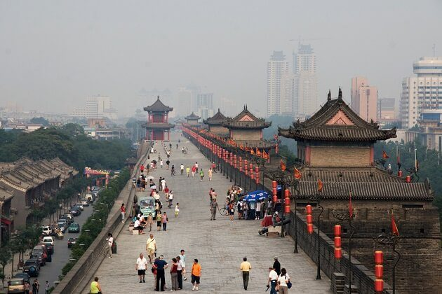 Xi'an City Wall - family tour of china
