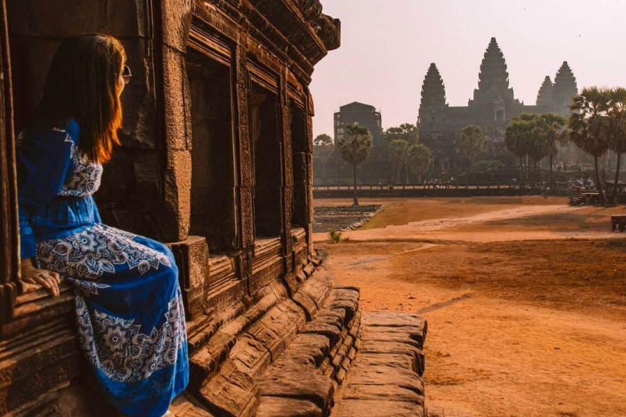 angkor wat in siem reap of cambodia