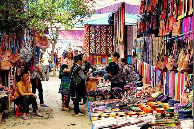 bac ha market - vietnam laos and cambodia tour