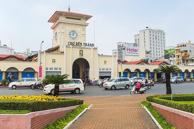 ben thanh market - vietnam cambodia and laos tours