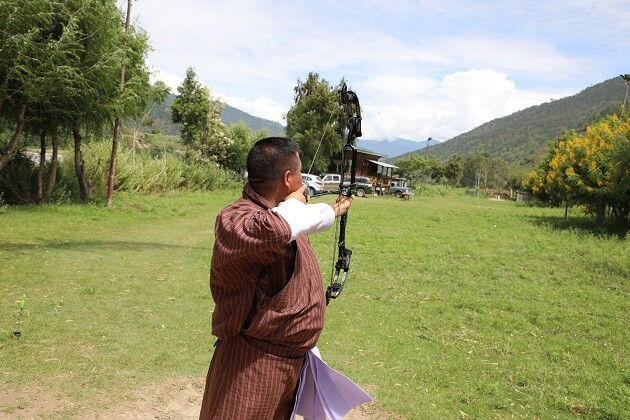 bhutan archery - south asia vacation