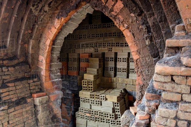 brick factory in mekong delta
