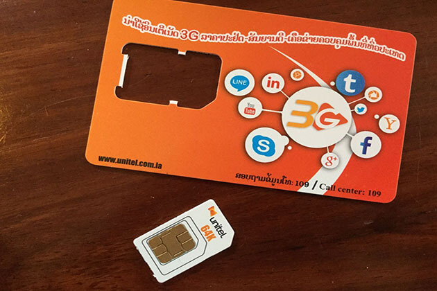 buy sim card in laos