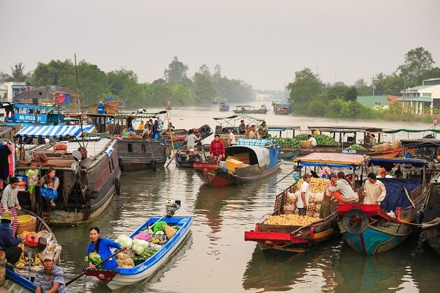 cruise on Cai Son and Nhon Thanh creeks