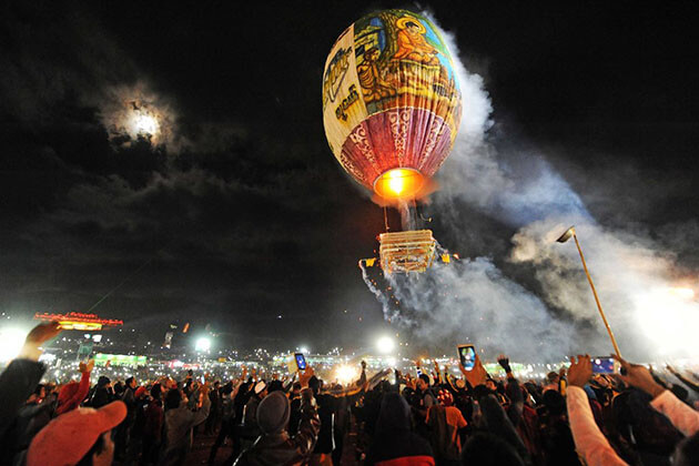 fire balloon - unique things to do in myanmar