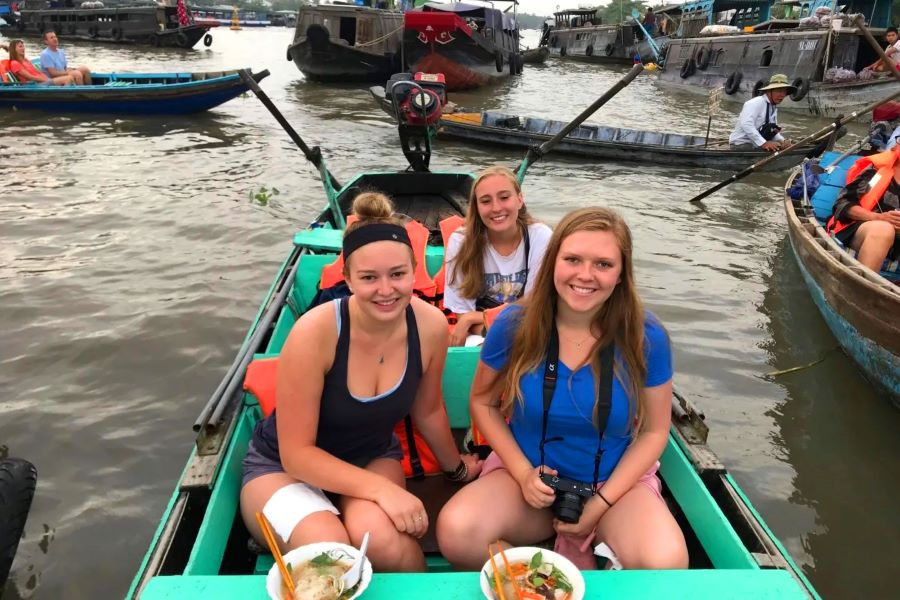 floating experience in mekong delta