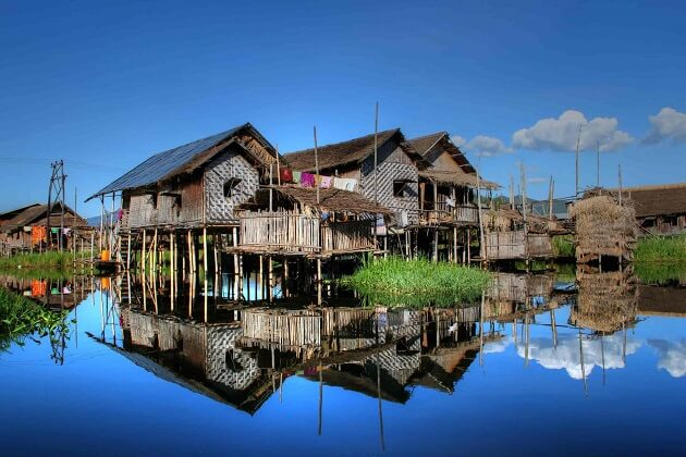 inle stilt house - myanmar tours
