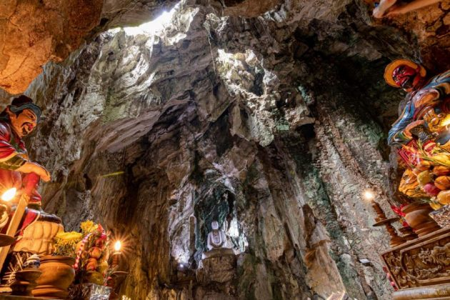 inside marble mountain in danang