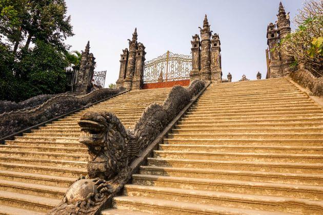 khai dinh tomb in hue vietnam