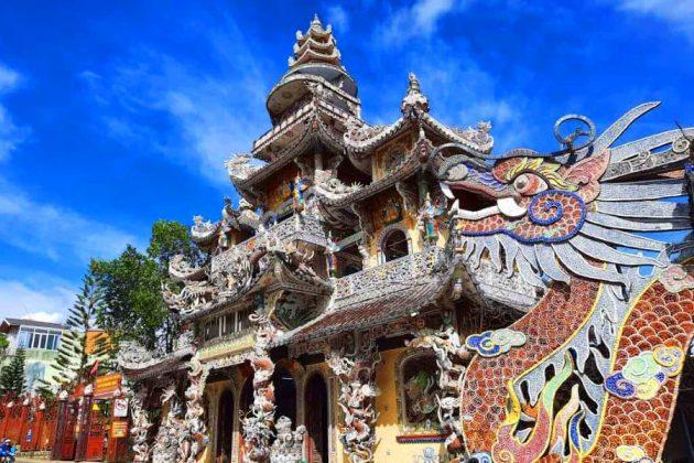 linh an pagoda in dalat