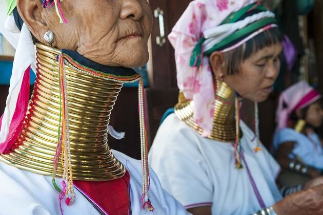 long neck women - myanmar vacation